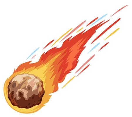 brandweer cartoon: Komeet naar beneden vallen snel illustratie