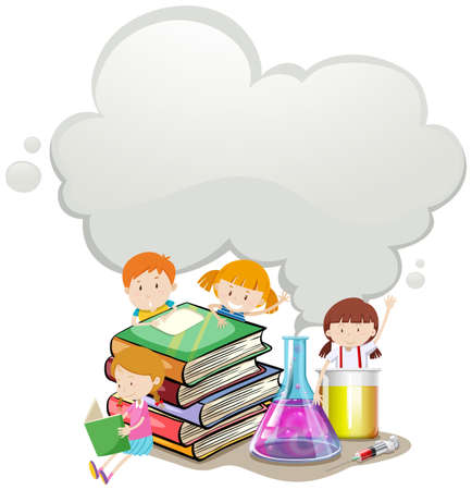 science lab: Children and science lab illustration