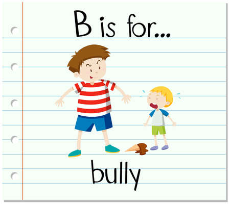 frail: Flashcard letter B is for bully illustration