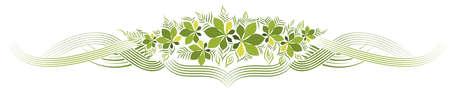 decoration design: Decoration design with green leaves illustration