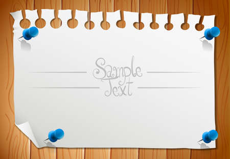 note paper: Paper design with blank piece of note illustration Illustration