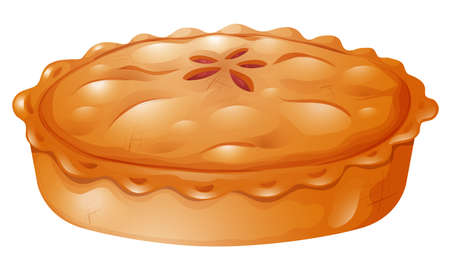 pie: Fresh baked of pot pie illustration Illustration