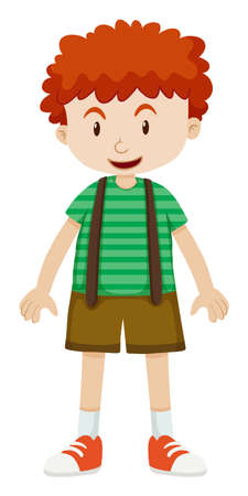 curly: Boy with curly hair illustration Illustration