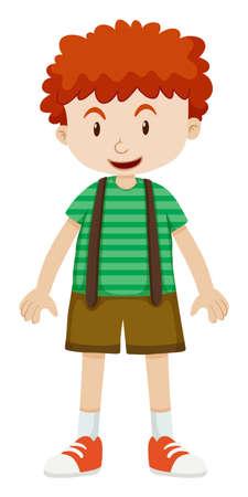 cabello rizado: Chico con el pelo rizado ilustración Vectores