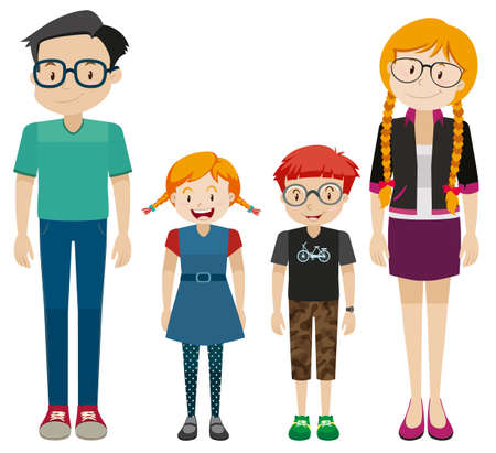kin: Family members with parents and children illustration