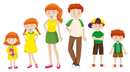 Boy and girl growing up illustration