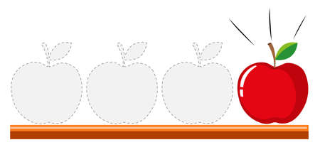 tracing: Tracing design with apples illustration