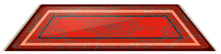 Rode mat met duidelijke ontwerp illustratie