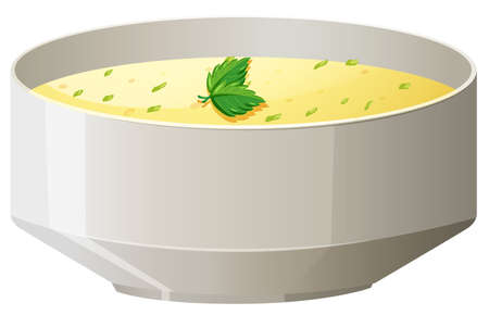 soup: Hot soup in bowl illustration Illustration
