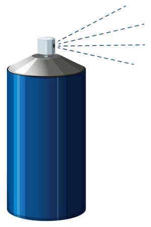 tincan: Spray bottle in blue color illustration