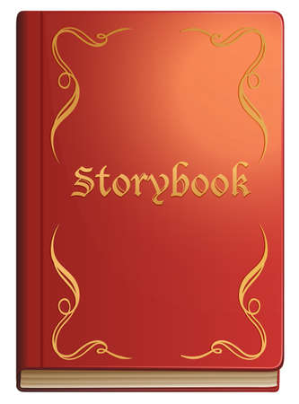 storybook: Storybook with red covers illustration Illustration