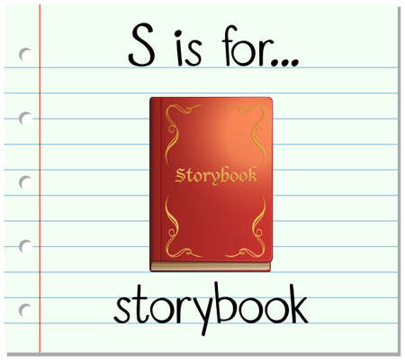 storybook: Flashcard letter S is for storybook illustration