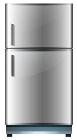 storage device: Refrigerator with two doors illustration