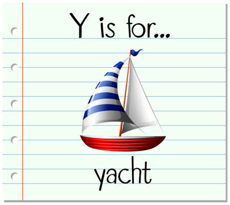 yacht: Flashcard letter Y is for yacht illustration Illustration