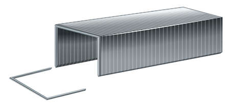 Staple wire on white background illustration