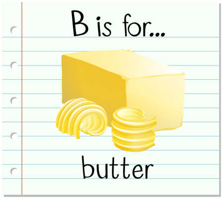 flashes: Alphabet b is for butter illustration