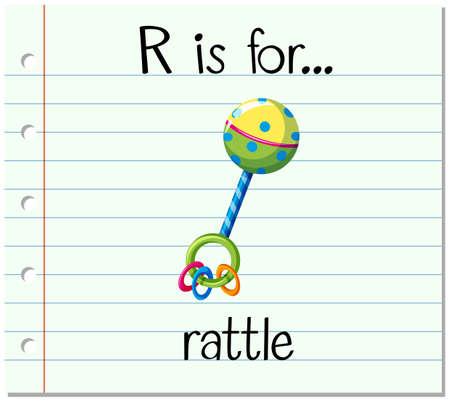 sonaja: Grupos de tarjetas letra R está para el ejemplo traqueteo