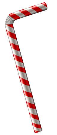 Straw in rosso e bianco illustrazione a colori