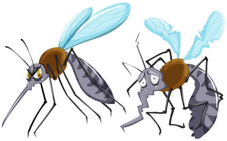 weak: Mosquitoes strong and weak illustration