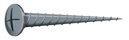 tornillos: Tornillo hecha de acero ilustración