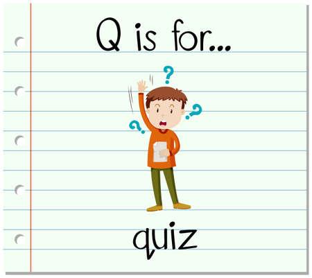 quiz: Flashcard letter Q is for quiz illustration
