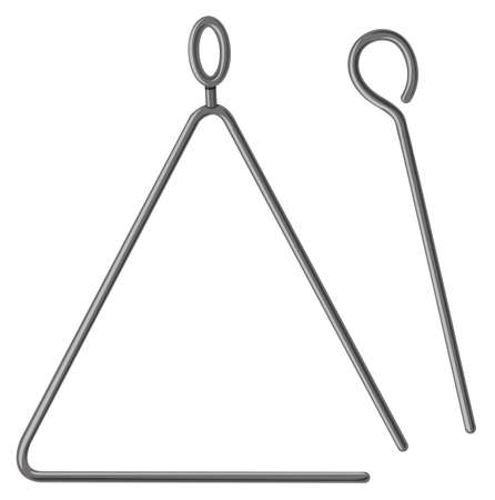 triangle musical instrument: Triangle with metal stick illustration