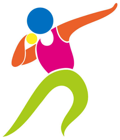 Sport icon for short put illustration