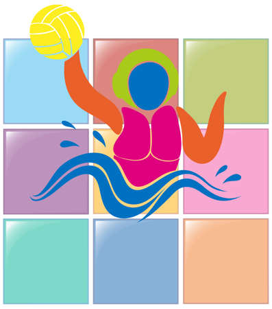 water polo: Sport icon for water polo illustration