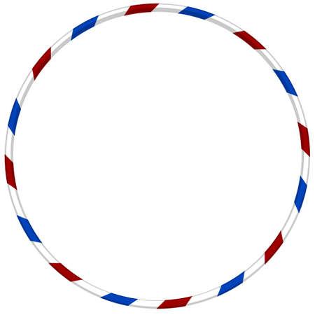 gymnastics: dance hoop with blue and red striped illustration Illustration