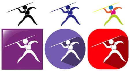 pole vault: Different icons design for pole vault illustration
