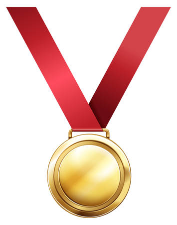 Gold medal for first prize illustration