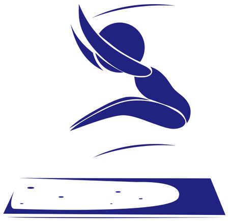 long jump: Sport icon for long jump illustration