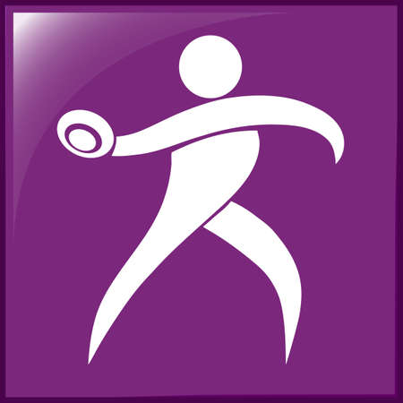 discus: Sport icon for throwing discus illustration