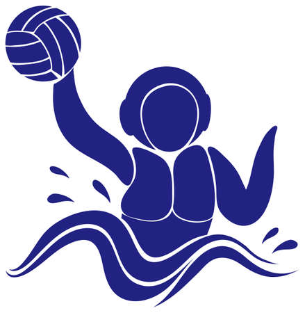 waterpolo: Dise�o del icono del deporte para la ilustraci�n de waterpolo