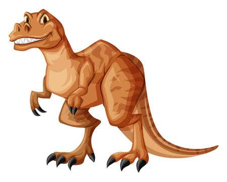 dinosaur teeth: Dinosaur with sharp teeth illustration