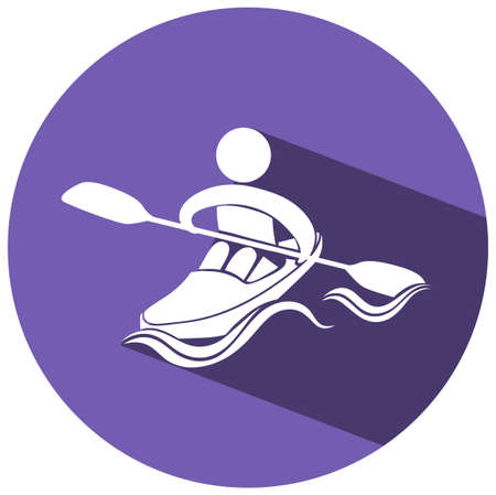 art activity: Sport icon design for kayaking illustration