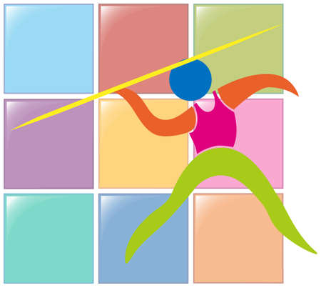 pole vault: Sport icon for pole vault illustration Illustration