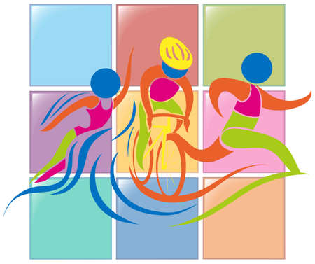 triathlon: Sport icon design for triathlon illustration