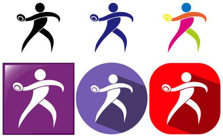 discus: Sport icon design for discus throwing illustration Illustration