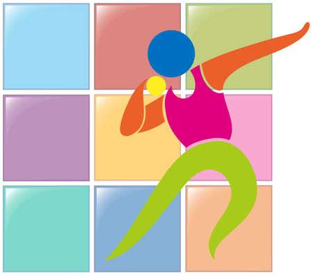 lanzamiento de bala: Diseño del icono del deporte para lanzamiento de peso ilustración