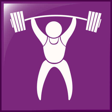 weightlifting: Sport icon design for weightlifting illustration Illustration