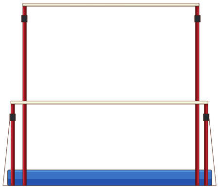 bars: Gymnastics equipment uneven bars illustration