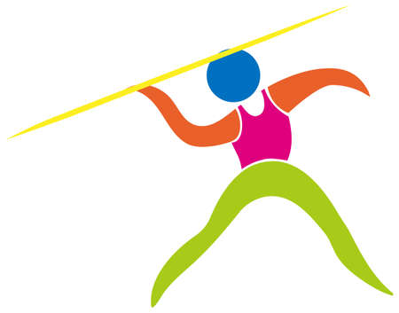 javelin: Javelin icon on white background illustration Illustration
