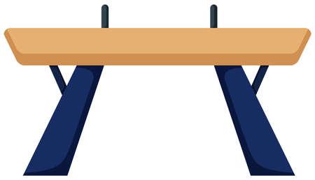 gymnastics equipment: Gymnastics equipment balance bar illustration