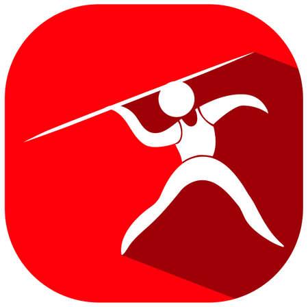 javelin: Sport design for javelin illustration Illustration