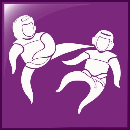 symbol sport: Sport Symbol für Taekwondo-Illustration