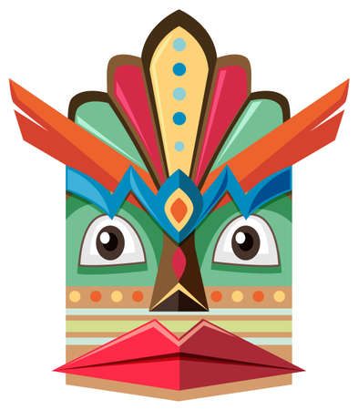 the human face: Handicraft design with human face illustration