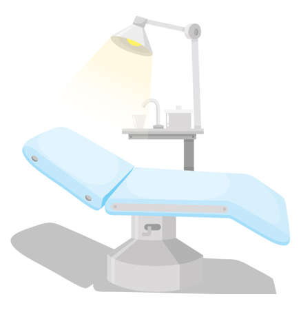 dental chair: Dental chair and other equipments illustration Illustration