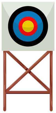 targets: Shooting target on white background illustration