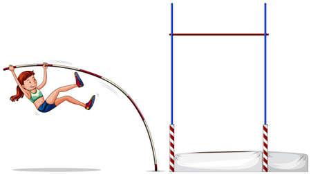 alto: Atleta de la mujer haciendo ilustración salto Vectores